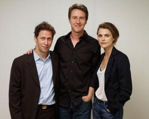 Tim Blake Nelson, actors Edward Norton and Keri Russell from the film 'Leaves Of Grass' pose for a portrait during the 2009 Toronto International Film Festiva